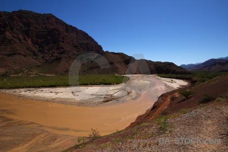 Sky las conchas river landscape water bush.