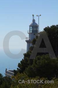 Sky lighthouse cap de la nau tree.