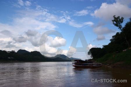Sky luang prabang water mekong river vehicle.