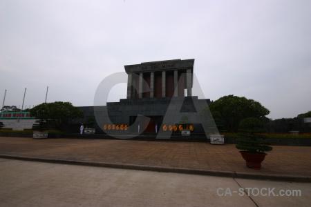 Sky mausoleum building ho chi minh hanoi.