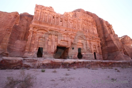 Sky middle east carving ancient cliff.