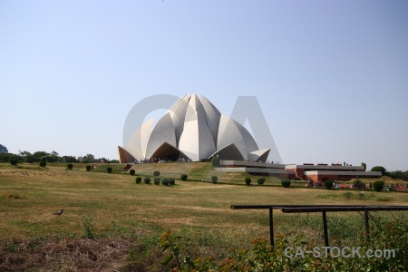 Sky monument new delhi south asia lotus temple.