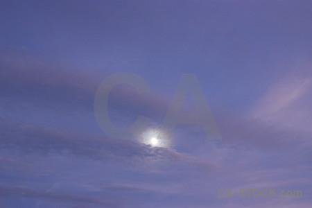 Sky moon cloud.