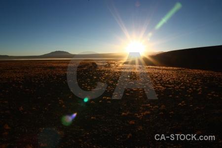 Sky mountain bolivia sunrise south america.