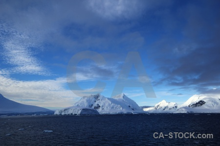 Sky mountain cloud ice antarctic peninsula.