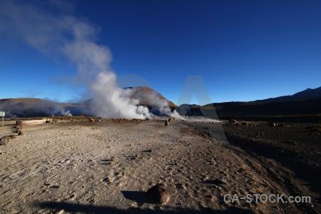 Sky mountain el tatio rock geyser.