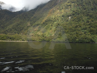 Sky mountain fiordland doubtful sound fiord.