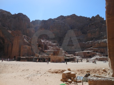 Sky nabataeans cliff rock western asia.