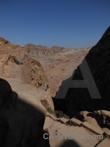 Sky nabataeans rock historic cliff.