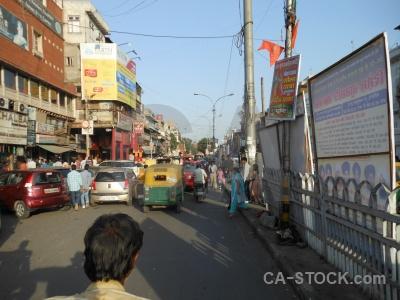 Sky new delhi building rickshaw asia.