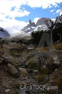 Sky patagonia trek snow torres del paine.