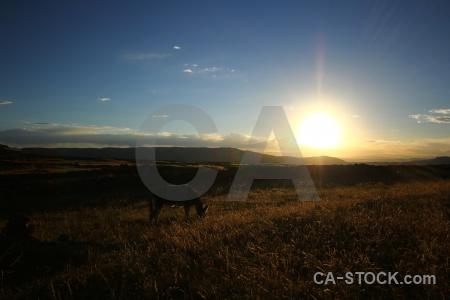 Sky peru sunset island andes.