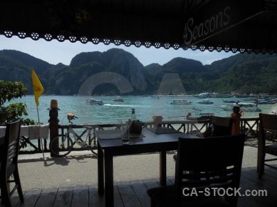 Sky phi island thailand table asia.