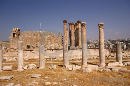 Sky pillar corinthium historic jarash.