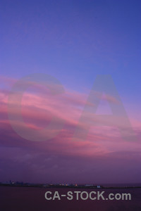 Sky pink blue cloud purple.