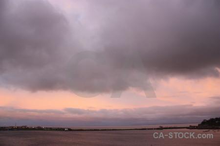 Sky pink cloud.