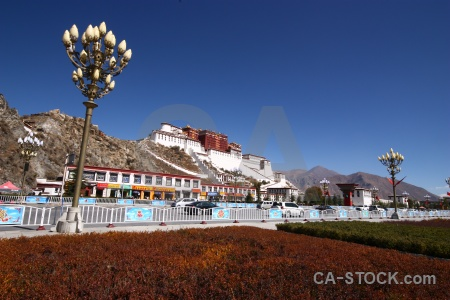 Sky potala palace buddhist grass buddhism.