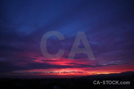 Sky purple sunrise sunset cloud.
