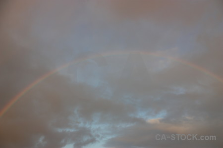 Sky rainbow cloud gray.