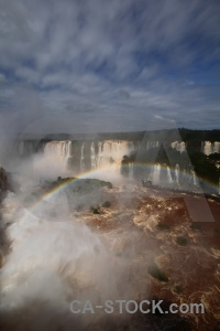 Sky river tree waterfall iguazu falls.