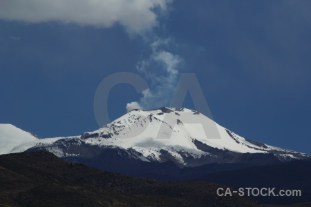 Sky sabancaya south america active snowcap.