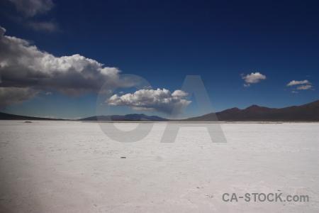 Sky salar de chiguana salt flat landscape south america.