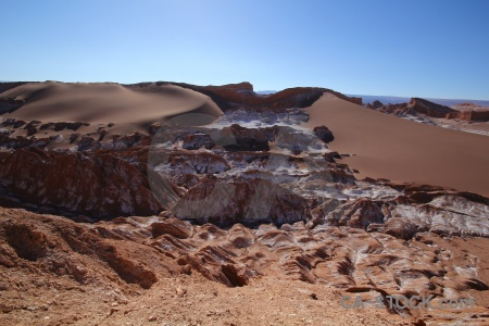 Sky sand valley of the moon south america landscape.
