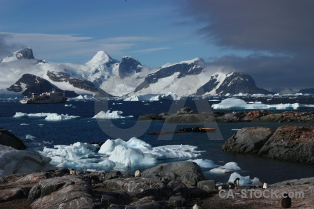 Sky sea antarctic peninsula antarctica snow.