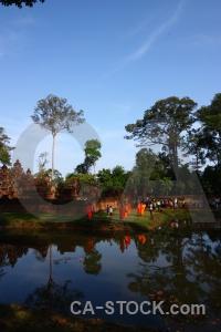Sky siem reap block pond prasat banteay srei.