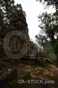 Sky siem reap temple southeast asia stone.