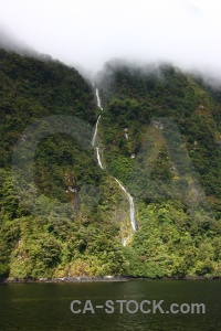 Sky sound mountain fiord waterfall.