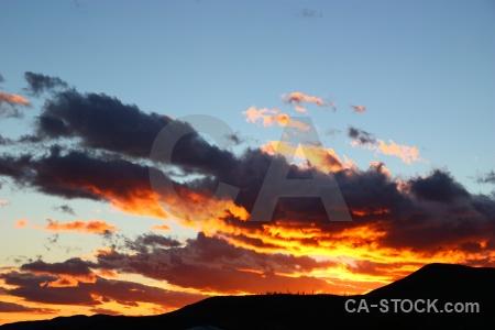 Sky south america circuit trek sunrise patagonia.