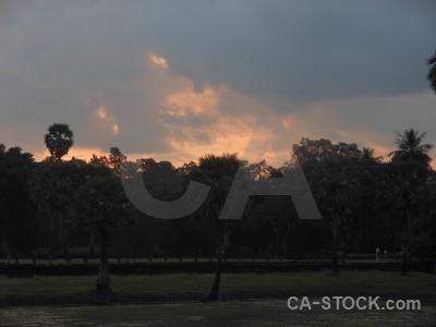 Sky southeast asia silhouette siem reap sunset.