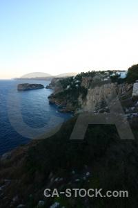 Sky spain europe cliff sea.