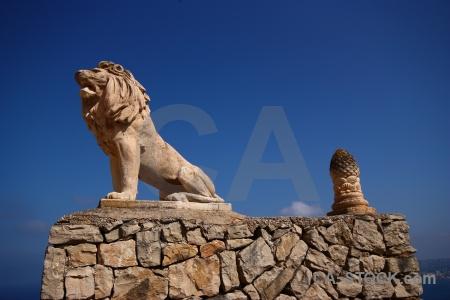 Sky spain statue europe lion.