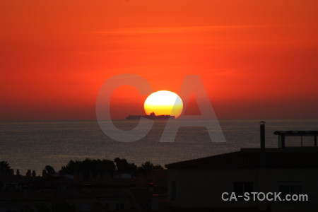 Sky sun red sunset javea.
