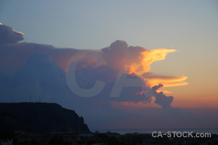 Sky sunrise javea spain cloud.