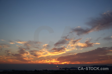 Sky sunrise sunset cloud javea.