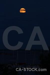 Sky sweden cloud moon karlskrona.