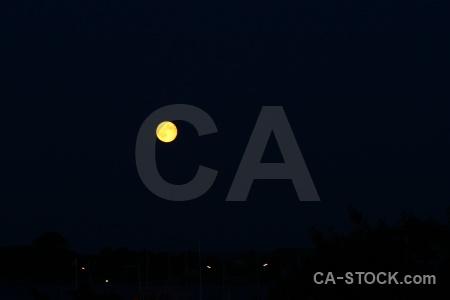 Sky sweden moon karlskrona europe.
