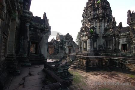 Sky temple angkor block pillar.