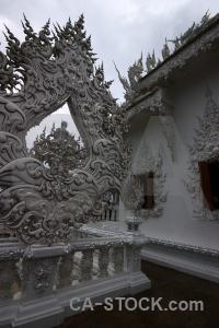 Sky temple wat rong khun thailand cloud.