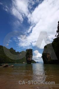 Sky thailand rock ko tapu cliff.