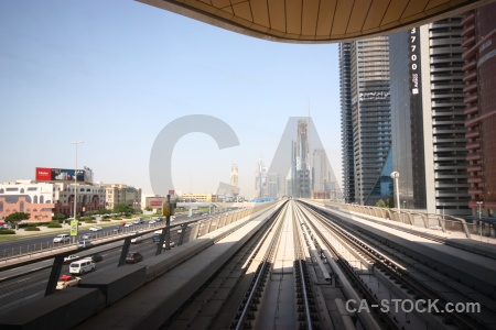 Sky uae asia train track middle east.
