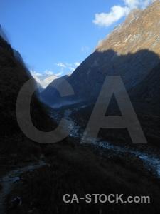 Sky valley deurali south asia mountain.