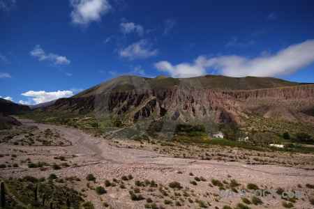 Sky valley mountain cloud argentina.