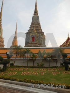 Sky wat pho building temple buddhist.