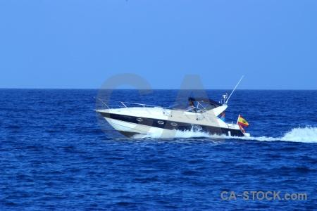 Sky water boat javea spain.