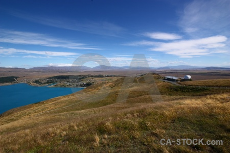 Sky water lake tekapo new zealand mountain.
