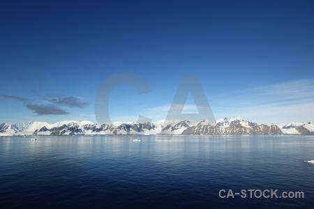 Sky water landscape mountain ice.